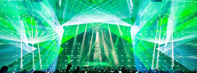 hard bass lasershows