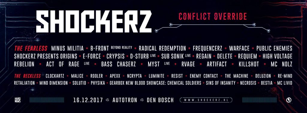 shockerz line-up 2017