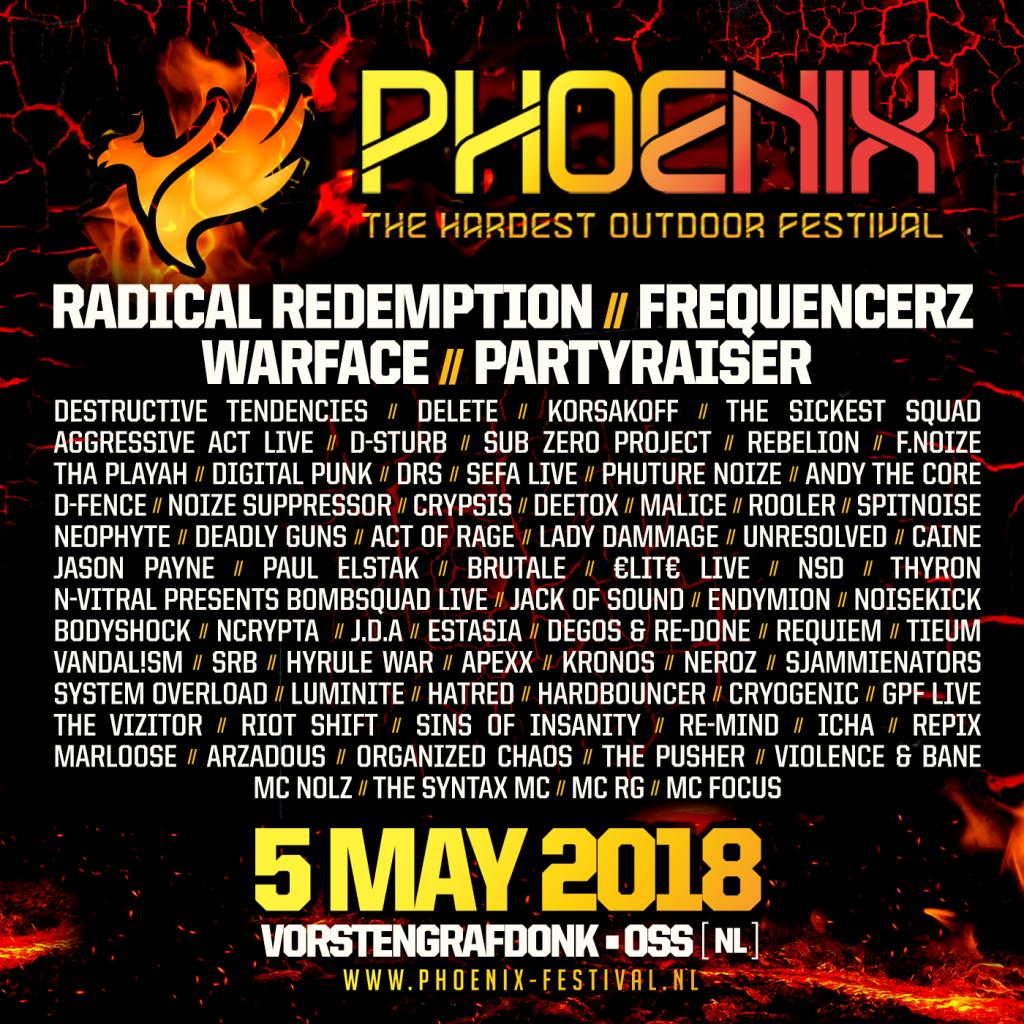phoenix festival 2018 line-up