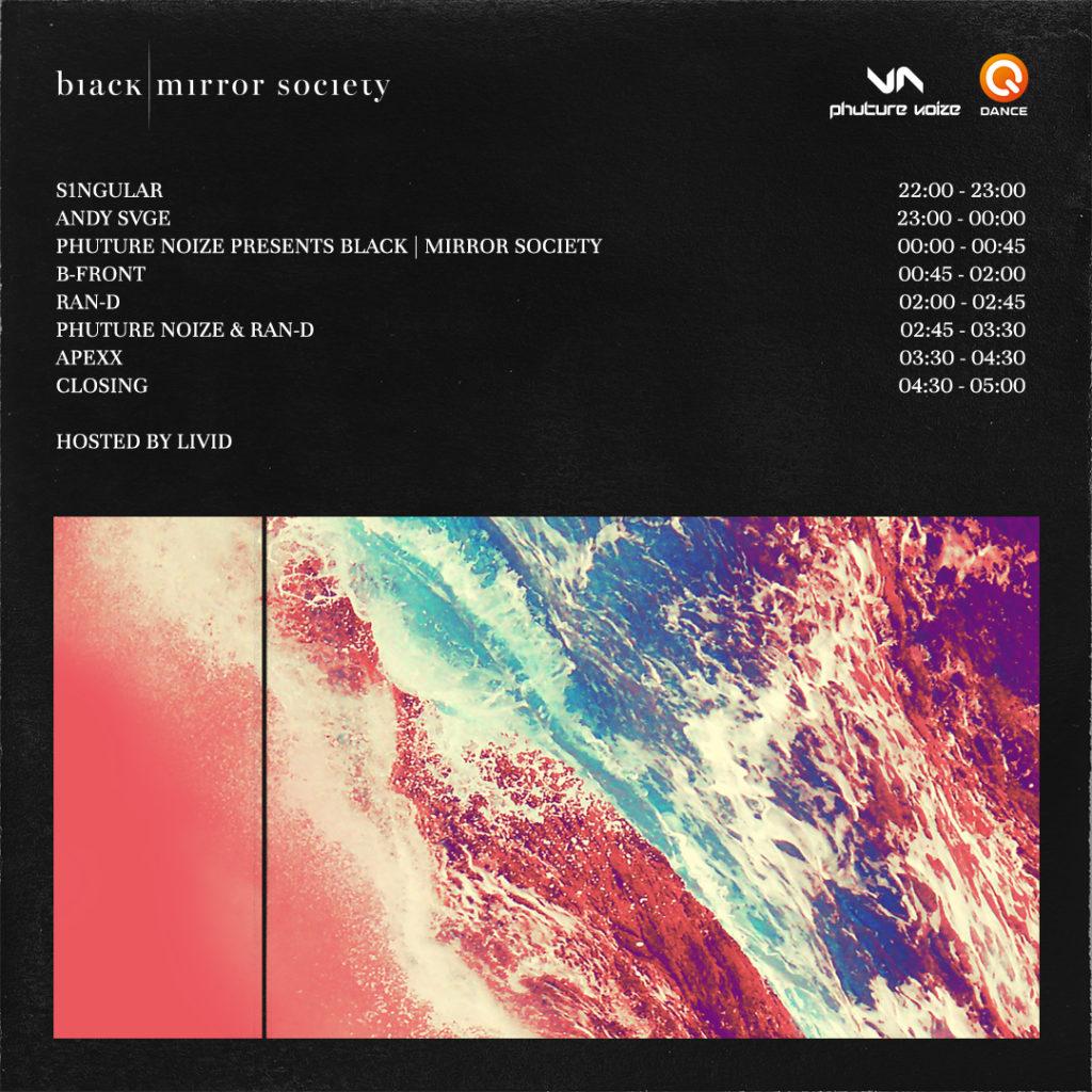phuture noize album release party timetable black mirror society