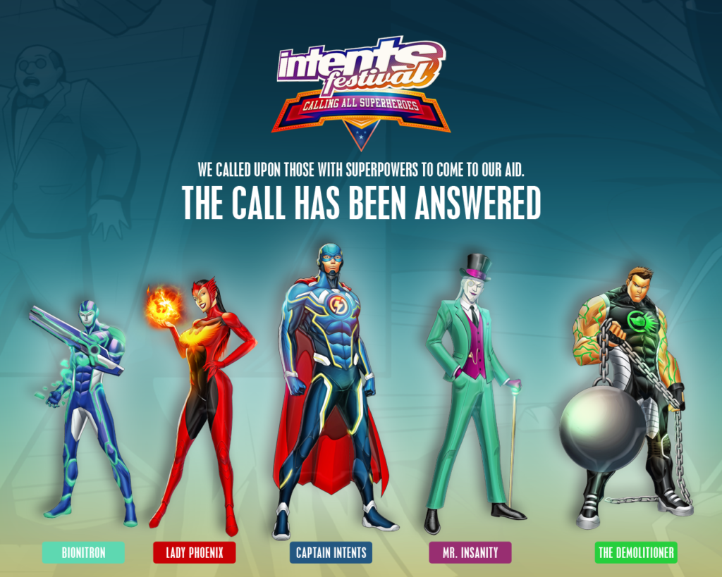 Intents Festival - Calling All Superheroes Thema