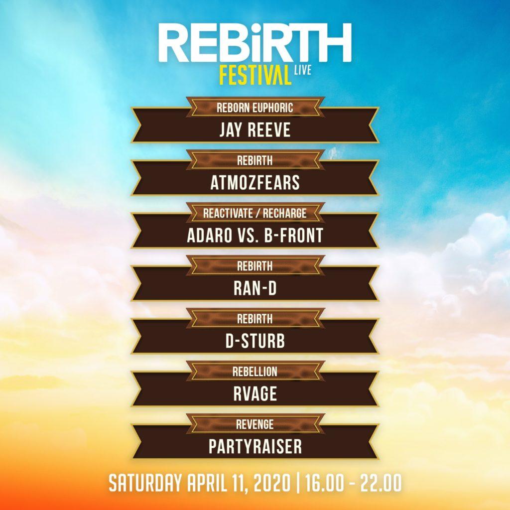 REBiRTH Festival 2020 livestream timetable
