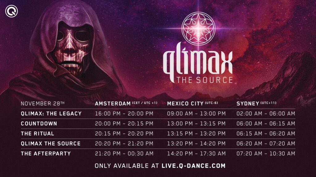 Qlimax The Source timetable