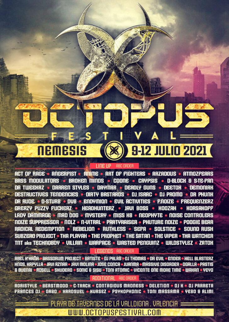 Octopus Festival 2021 line-up