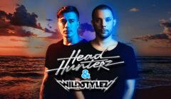 headhunterz & wildstylez at the beach bloemendaal beachclub fuel hardstyle outlaw events